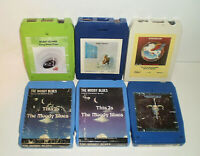 Lot Of 6 Classic Rock 8 Track Tapes Eagles Rare Earth Robin Trower Steve Miller
