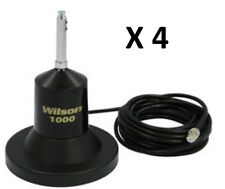 """lot of 4 Wilson 1000 Magnet Mount CB Radio Antenna With 62.5"""" Whip 880-900800B"""