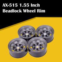 AX-515 4x 1.55 Inch Metal Wheel Rim Beadlock Hub for 1/10 RC Crawler Car Tamiya