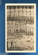 1907 Cleveland Naps Baseball Club Team Postcard reproduction