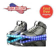 High Top LED Light Lace Up Unisex Sportswear Sneaker Luminous Casual Shoes