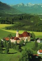 CHURCH of PILGRIMAGE Die Wies GERMANY POSTCARD - NEW - BEAUTIFUL GREEN SCENERY