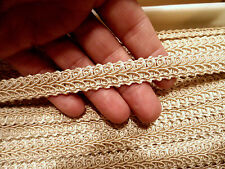 """CHAMPAGNE French Gimp Upholstery Curtian Fabric Trim 1/2"""" wide -sold by 5 YARDS"""
