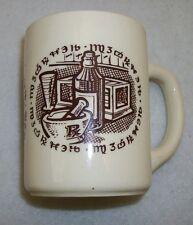 Vintage Apothecary/Pharmacy/Alchemy Symbols Coffee Mug Cream with Brown