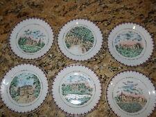 Phillip Deshoulieres set of 6 canape plates  Chataux De  Bordeaux