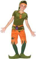 Déguisement Garçon LUTIN Vert 10/11/12 Ans Enfant Elfe Gobelin Gnome cinéma NEUF