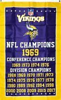 Minnesota Vikings NFL Super Bowl Championship Flag 3x5 ft Banner Man-Cave New