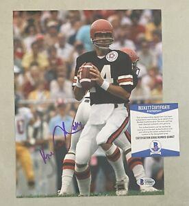 Ken Anderson Signed 8x10 Photo Autographed Beckett BAS COA Bengals