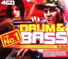 THE NO 1 DRUM & BASS ALBUM - 4 CDS 60 UNMIXED TRACKS ! D&B JUNGLE RAVE CD CDJ DJ