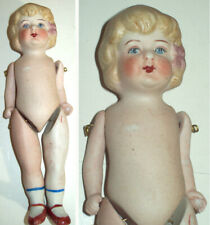 "6"" Antique All Bisque Jointed Doll marked NIPPON No Damage~~~~"
