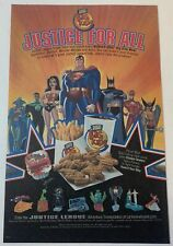 2003 Burger King JUSTICE LEAGUE SUPER HEROES kids meal toys ad page