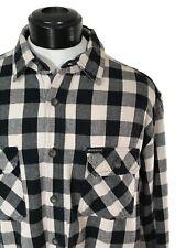 WOOLRICH Black Buffalo Plaid Soft Brushed Flannel Heavyweight Work Shirt sz L