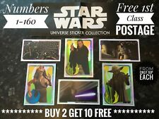 Topps Star Wars Force Attax Universe Stickers - Numbers 1-160, Buy 2 Get 10 Free
