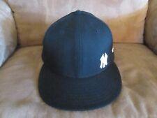 NEW YORK YANKEES BASEBALL CAP; MINI NY LOGO; NEW ERA 59FIFTY; BLACK; NEW
