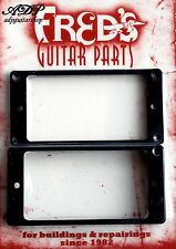 2 CONTOURS HUMBUCKER NOIRS TABLE PLATE 2xPickups Mounting Ring flat BLACK MR-1B
