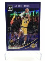 2018-19 Donruss Optic LeBron James Purple Prizm Holo Refractor (1st Lakers Card)