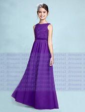b9b0ceb9079 New Prom Lace Junior Flower Girl Dress Wedding Party Bridesmaid Dress 2-16  Years