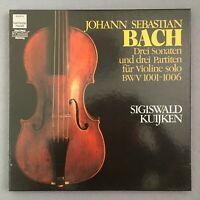 B790 Bach 3 Violin Sonatas & Partitas Kuijken 3LP HM 1C 157 1999603 Digital St