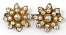 Pearl Flowers/Plants Brooch/Pin Art Deco Costume Jewellery