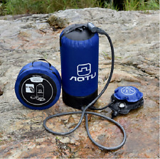 Portable Outdoor Camping Shower Bag with Pressure Foot Pump 11L small packing