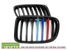 /// M Tri 3 Color Shiny Black Front Grille Grill For BMW X1 E84 2010-2014