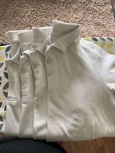 M&S Boys School Polo Shirts. Age 11-12.