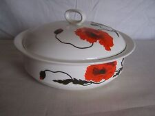 Wedgwood Susie Cooper Cornpoppy Round Covered Vegetable Bowl