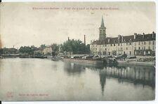 CPA 71- Chalon-sur-Saône - Port du canal et Eglise Saint Cosme