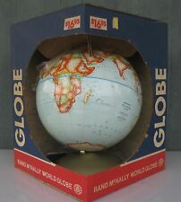 Vintage 1977 Rand McNally Political Globe Raised Relief 12� New In Box!