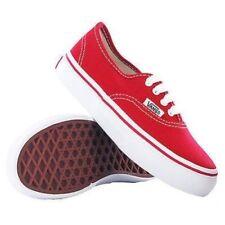 Scarpe rossi marca VANS per bambini dai 2 ai 16 anni tela