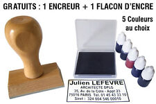 TAMPON Bois 5 LIGNES + 1 Encreur et 1 flacon d'encre GRATUITS