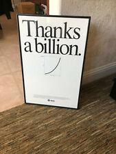 Vintage 1988 Sun Microsystems 1st Billion Dollar Company Sales Poster Framed