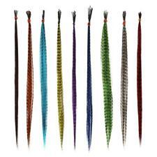 Plumas de extensión de cabello 18pcs 16 pulgadas sintético gallo Grizzly pluma