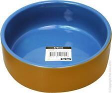 Pet One Terracotta Bowl Blue Glazed 19.6cm Dia 1765ml