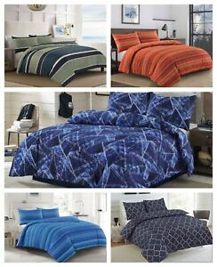 New Luxury Duvet Quilt Cover Poly-Cotton Reversible Bedding Single Double King