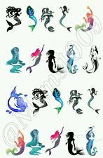 Mermaid Nail Decals Water Transfer decals!  Mermaid Nail Art.