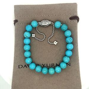 DAVID YURMAN Spiritual Bead Bracelet Sterling Silver With turquoise