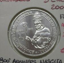 2005 PORTOGALLO 5 EURO ARGENTO COMMEMORATIVA 800° NASCITA PAPA GIOVANNI XXI FDC