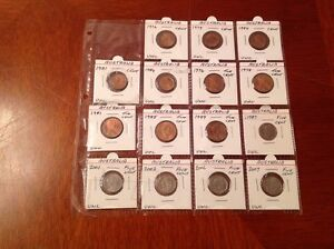 Collectors Page Of 15 Australian One Two And Five Cent Coins All Marked Unc