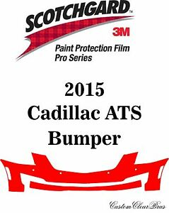 3M Scotchgard Paint Protection Film Pro Series Clear Bra Kit 2015 Cadillac ATS