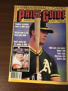 SCD Baseball Card Price Guide May 1988 Mark McGwire *Rare*. Smudge On Back