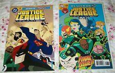 JUSTICE LEAGUE UNLIMITED #1 & #46 1st & Last isssues DC COMICS CARTOON NETWORK