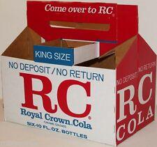 Vintage soda pop bottle carton RC KING SIZE NDNR unused new old stock n-mint+
