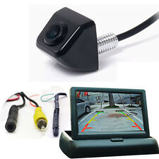 "Car Rear Back Side Front View Backup Parking CCD 170° Camera +4.3"" Fold Monitor"