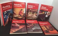 Lot Of 7 popular Science Skill Books Plumbing, Painting, Furniture, Concrete ++