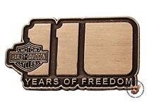HARLEY DAVIDSON 110TH ANNIVERSARY VEST PIN UK EDITION 110 YEARS OF FREEDOM