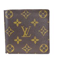 Auth Louis Vuitton Monogram Portofille Marco N61675 Leather Wallet (bi-f 09FA670