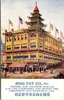 Postcard Sing Fat Co Inc Chinese & Japanese in San Francisco, California~135844