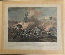 Bataille de Sediman Gravure sur Acier XIXème siècle Egypte par Fortier Soldats