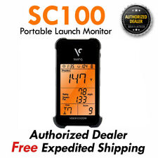 New Swing Caddie SC100 Portable Launch Monitor Golf GPS Black/VOICE CADDIE